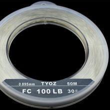 Бренд TYOZ нет.35# 118LB 100% фтороуглерод лески углеродного волокна лидер линия Рыбалка линия