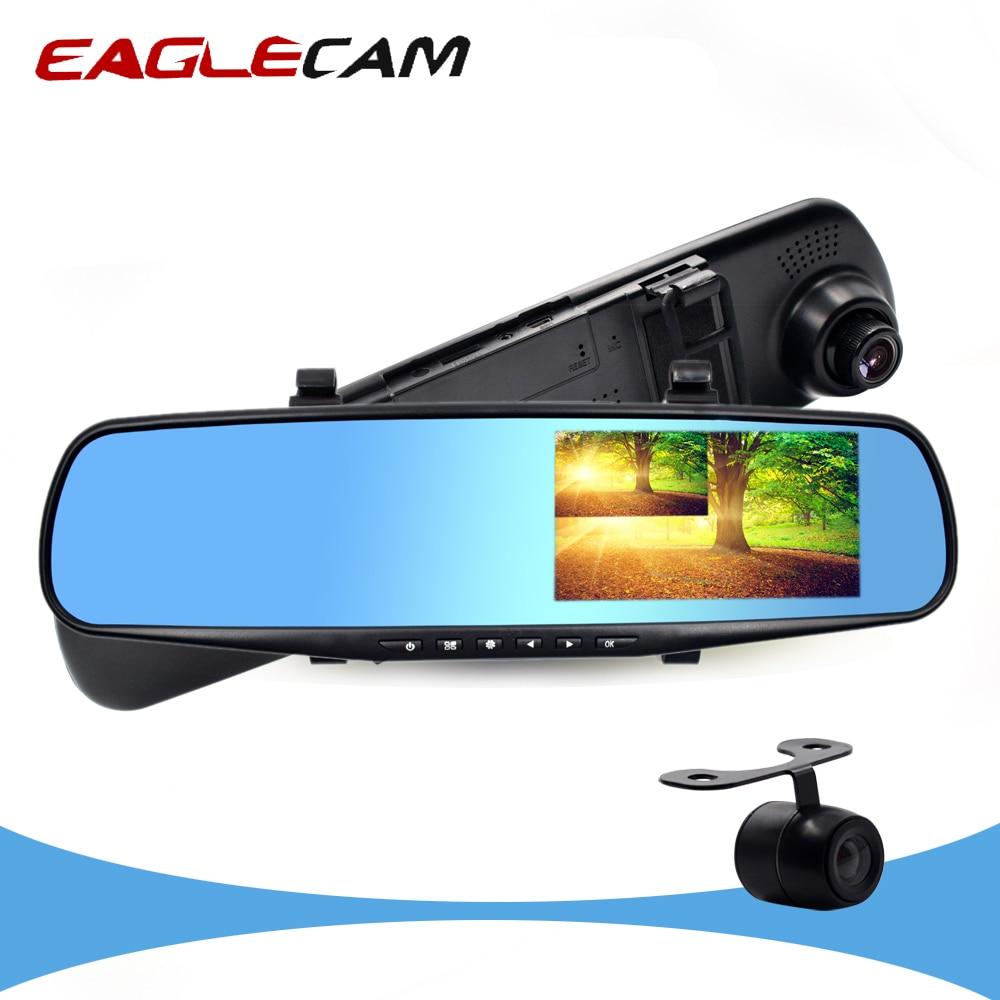Car DVR Registrator-Recorder Dash-Cam Car-Detector Video Rear-View-Mirror 1080P Full-Hd