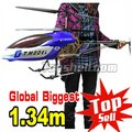 wholesale Biggest GT QS8006 134cm 3.5ch Gyro metal frame  rc helicopter plane LED lights 8006 RTF ready to fly