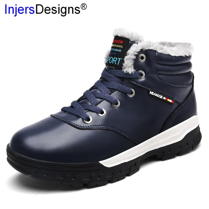 Air 48 Grand Cheville Coton blue High Neige Size39 Chaussures D'hiver brown Botas Chaud Étanche Black Plein Hommes Nouvelle Hombre Arrivée En Top Bottes w47xpWTZ