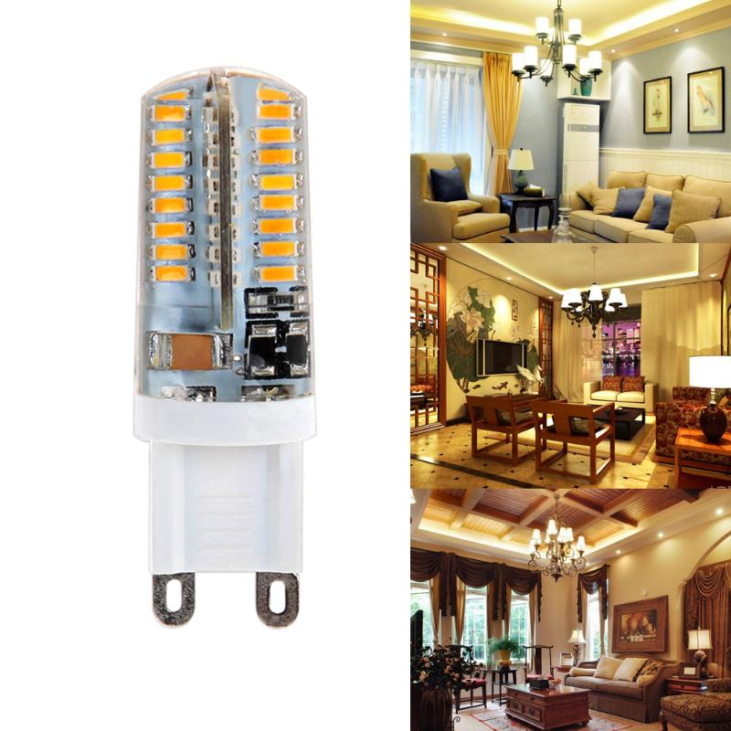 Mini 10XG9 LED Corn Light SMD 3014 Bulb Spotlight For Chandelier Replace 5W Halogen Lamp 64LED AC 110-240V gc e14 3w 170lm 3000k 64 3014 smd led warm white light corn bulb ac 90 240v