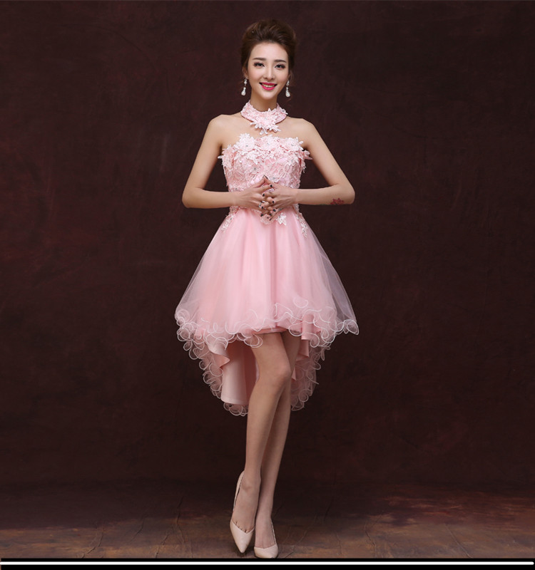 Cute Off the Shoulder Cheap Pink Champagne Tulle Short Prom font b Dresses b font Strapless