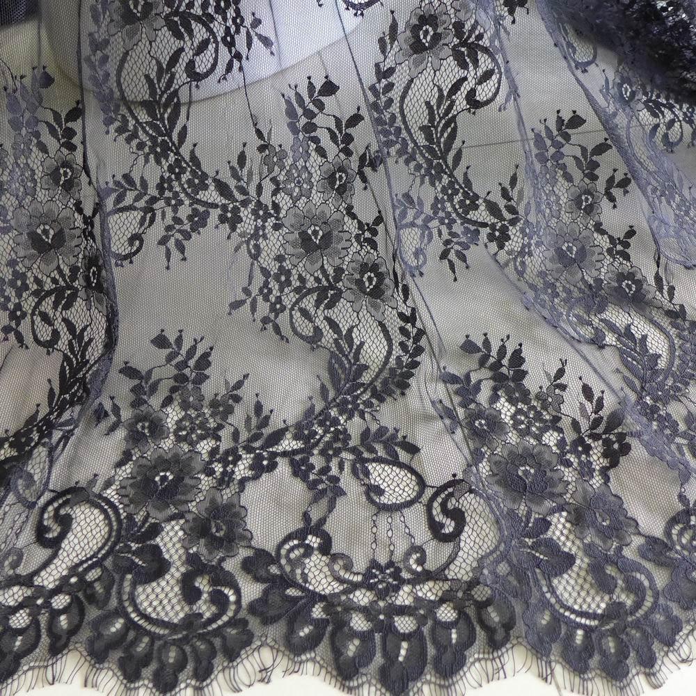 Black lace curtains vintage - Chantilly Fabric Vintage Black Wedding Dress Lace Fabric For Bridal Shawls Wedding Bolero Or