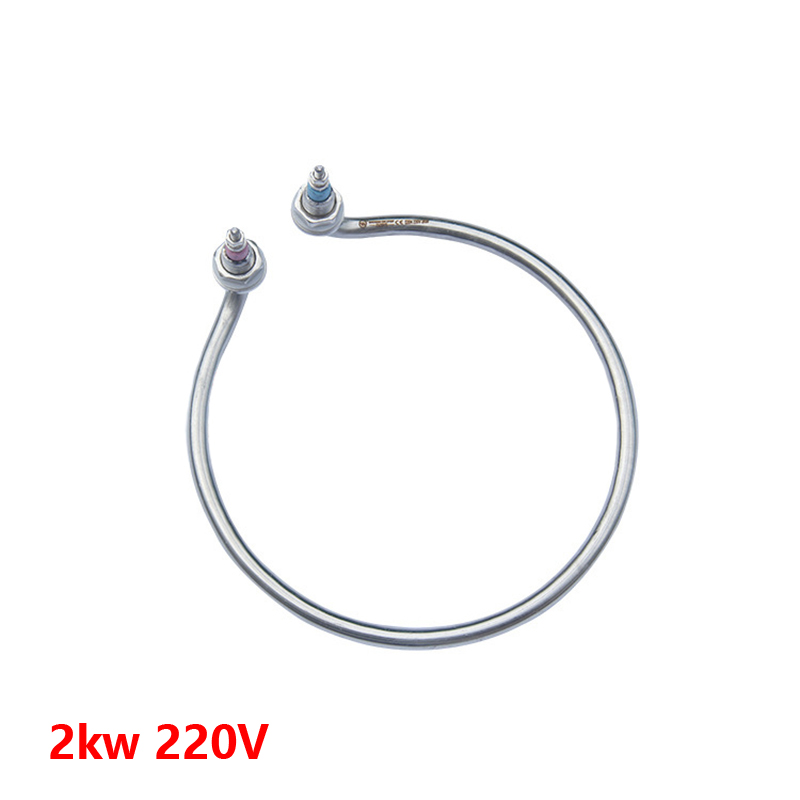 2KW 220V coil heating element for boiled water bucket,circle shape heat pipes for electric heating boiler 3kw 220v food grade sus304 electric heat tube for electric barrel coil heating element for water bucket noodle maker parts