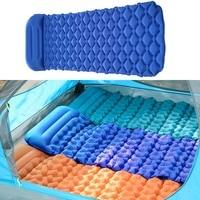 Camping Mat Inflatable Sleeping Pad With Pillow Lycra Fabric TPU Air Mattress Cushion Bag Sofa For Autumn Outdoor Hunting Picnic