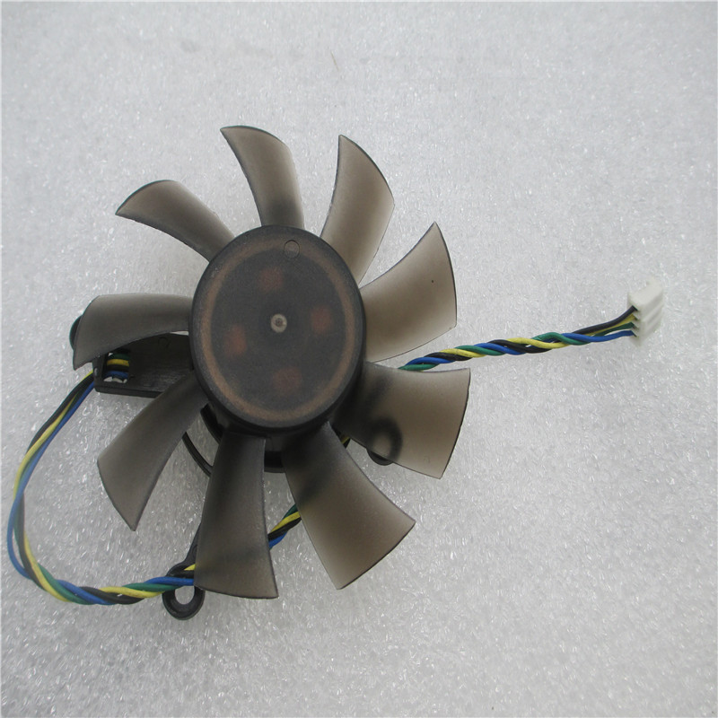 Free Shipping R128015SU 75mm 4pin 4 x 43mm for ASUS EAH5830/6850/8600/9800 GTS 260/450/460 HD7850 graphics card cooling fan qqv6 aluminum alloy 11 blade cooling fan for graphics card silver 12cm