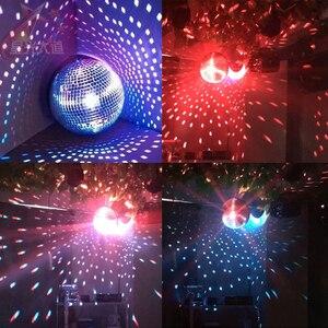 Image 5 - Thrisdar Dia25CM 30 CM Roterende Reflectie Glas Spiegel Disco Bal Met Motor en 10 W RGB Beam Pinspot DJ Thuis party Stage Licht