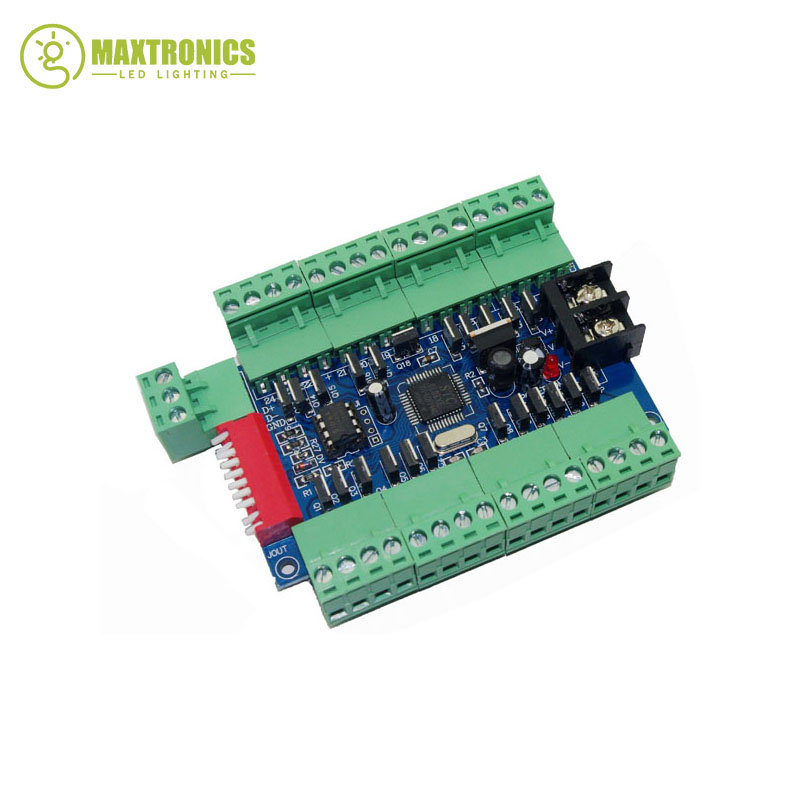 Best price 1 pcs 24 Channel 8 group DMX512 Decoder led controller use for led strip light led lamp Free shipping 2016 best price 1pcs 27 channel 9 group dmx512 led decoder constant pressure common anode led controller use for led strip light