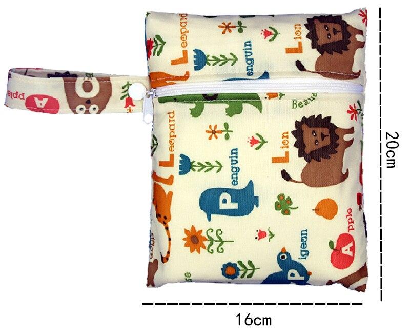 HTB1KSNumWigSKJjSsppq6ybnpXaz Reusable Nursing Pads Single Zippers Sanitary Pads Washable Wet Bags Nappy Bags Printed Waterproof Wetbag Diaper Bags 16*20cm