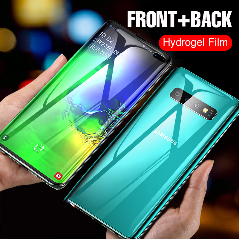Front Back Full Cover Hydrogel Film For Samsung Galaxy Note 10 9 8 S10 S9 S8 Plus S10e Soft 3D Curved Screen Protector Not Glass