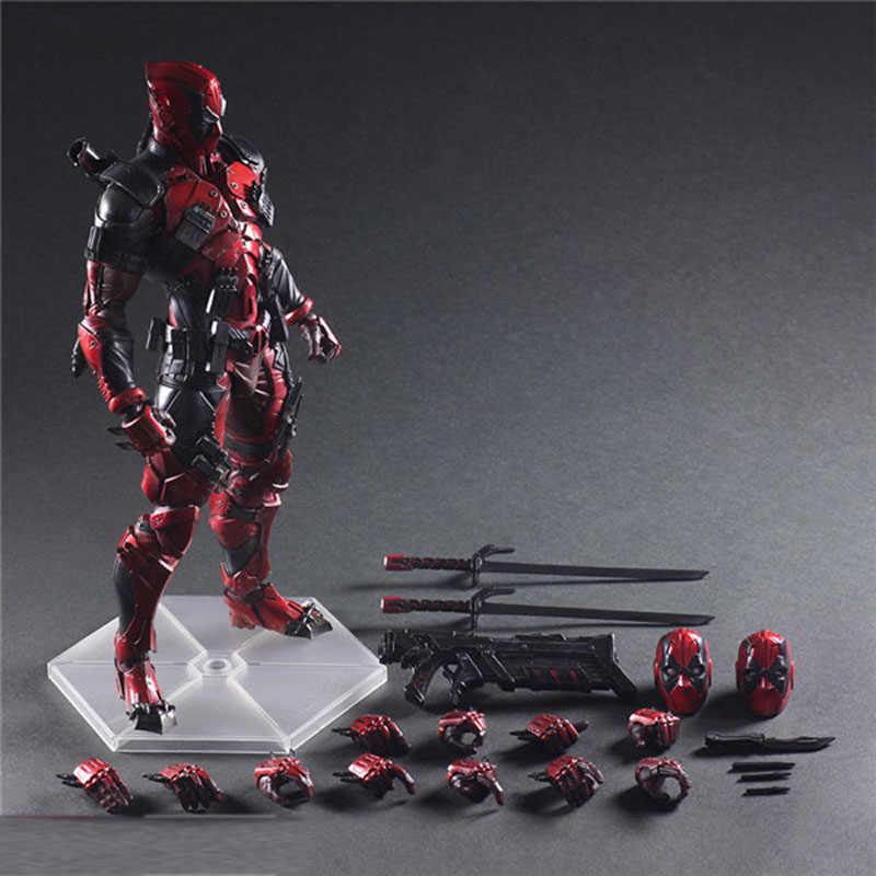 26cm Loucos Brinquedos Deadpool Deadpool Figura X-MEN Artes Jogo Dead Pool Resina Figuras de Ação PVC Coleção Modelo Boneca de Brinquedo presentes