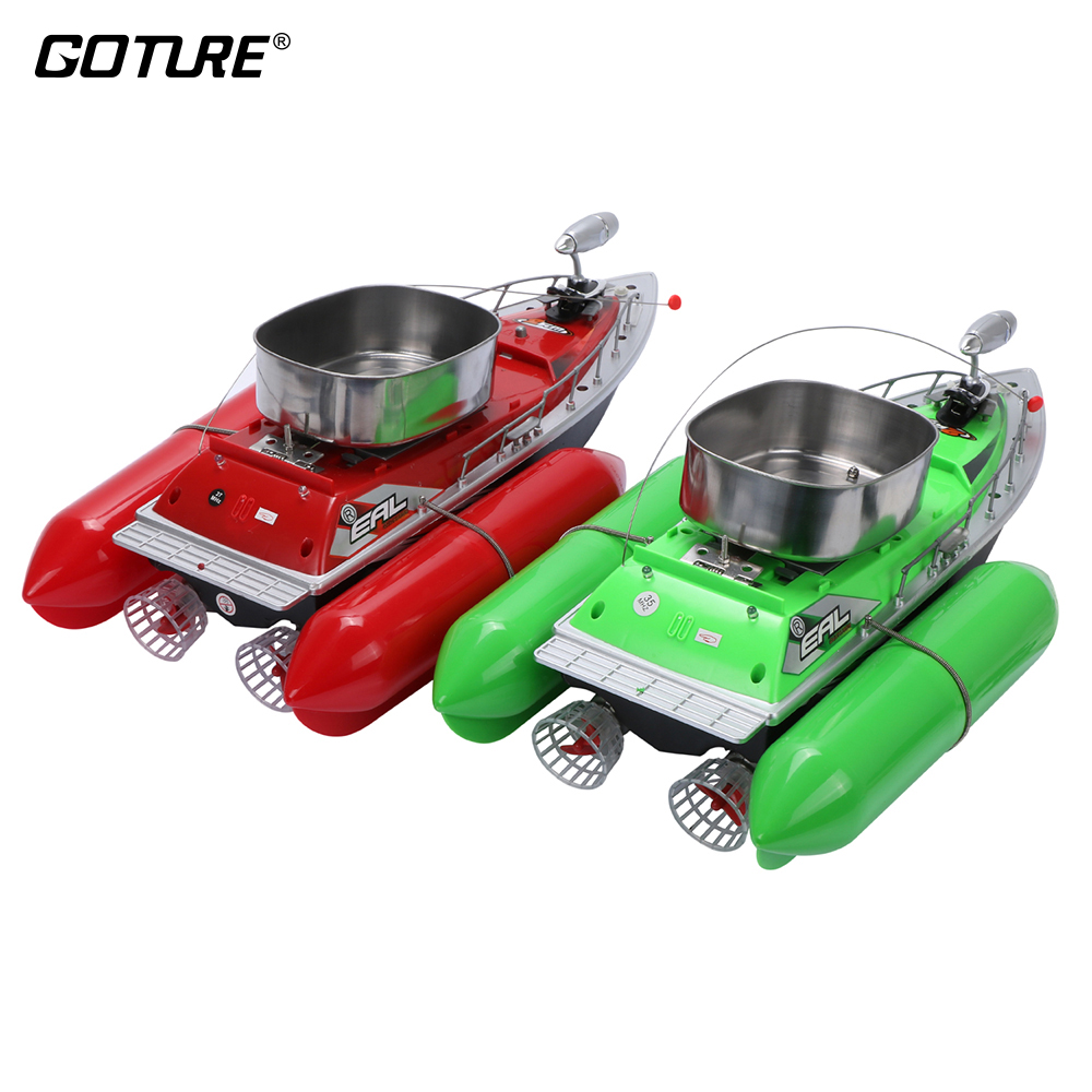 Goture Bait Fishing Boat 200M Green And Red Fishing Boat Remote Control Mini Carp Boat RC For Fish Finder Ship mini fast electric fishing bait boat 300m remote control 500g lure fish finder feeder boat usb rechargeable 8hours 9600mah
