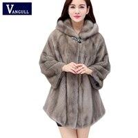 2017 new fashion thick Women Warm imitation fox Fur Coat Long Winter Fur Jacket Outerwear Three Quarter hooded Coats for Women
