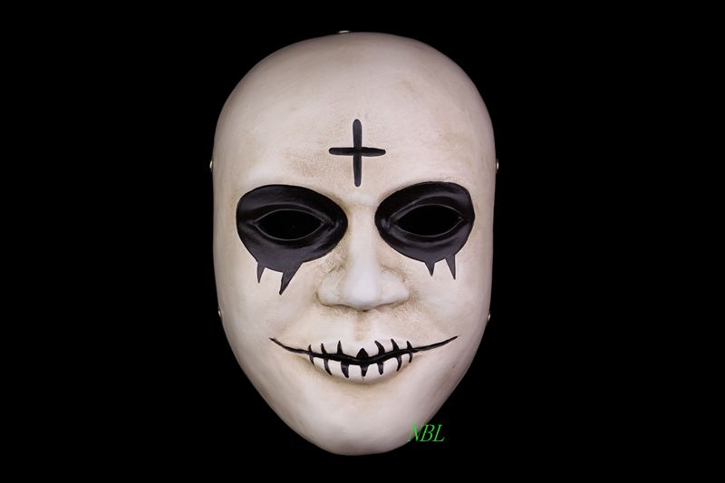 buy movie the purge masks cross resin smile white mask adult face mascaras halloween carnival theme cosply costume free shipping from