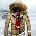 Niza Nueva Moda de Pato Blanco Abajo Chaqueta de Invierno Para Los Hombres suelta Gruesa Capucha Hombres Parka Larga Chaqueta de Invierno Los Hombres AW1122