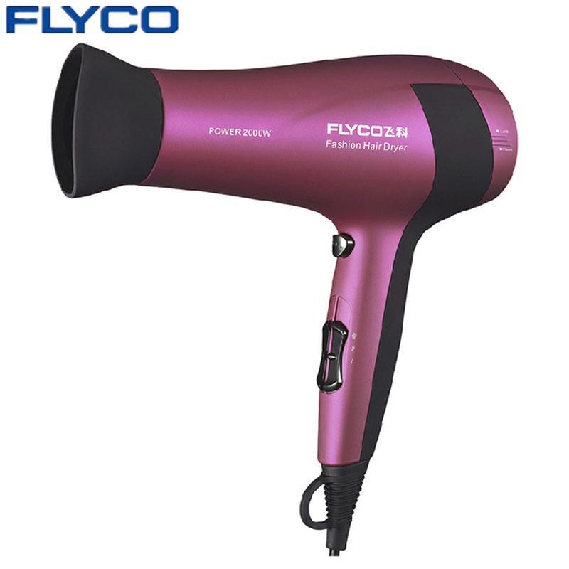 Flyco FH6618 Maroon 2000W Low Noise Hair Dryer Professional Salon Blow Dryer Bathroom Equipment Asciugacapelli Professionale