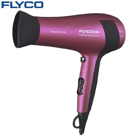 flyco fh6618 maroon 2000 w baixo ruido secador de cabelo profissional salao de beleza secador