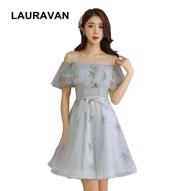 Sexy Gray Size 6 Club Robe De Short Designer Womens Bridesmaid Party Dresses Summer Tulle Shiny Women Party Formal Dress 2019