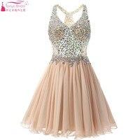Crystal short Sexy homecoming Dresses semi formal dresses graduation dress Short Prom Dresses china online shopping Z389