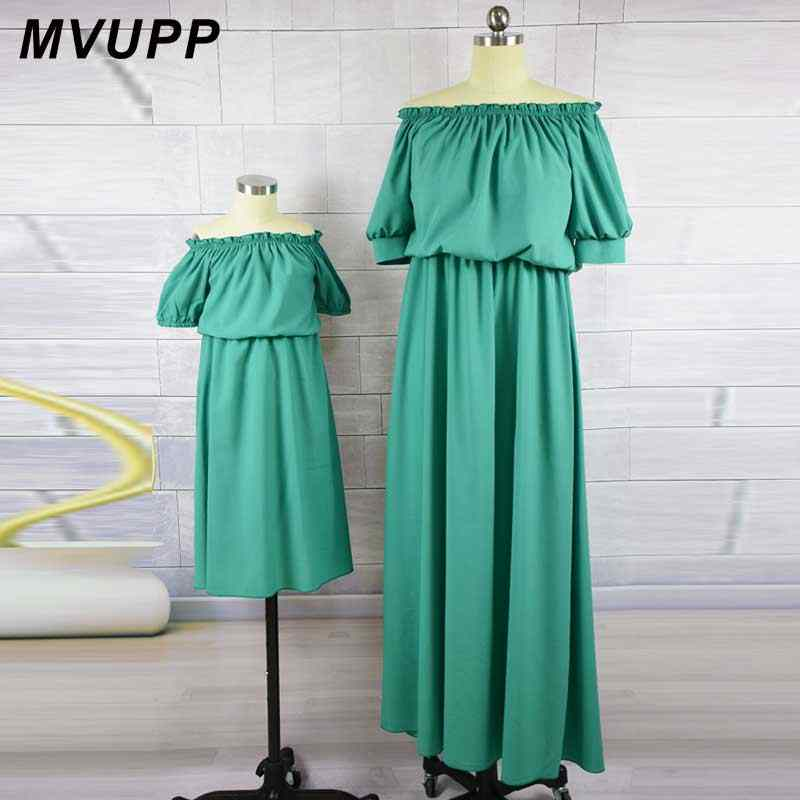 737c192191 mother daughter dresses mommy and me family matching clothes look mom mum  dress outfits clothing sister Children kids Girls 2019