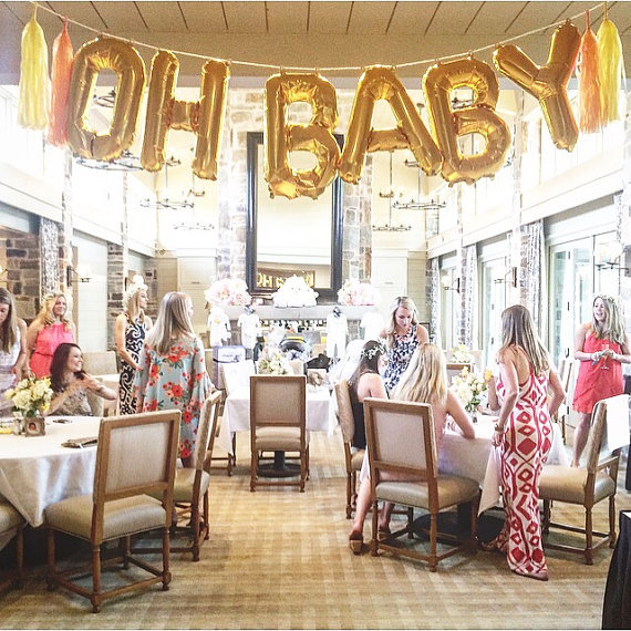 1set 16inch Glod/Sliver baby Foil letter balloons baby Shower Decor happy Birthd