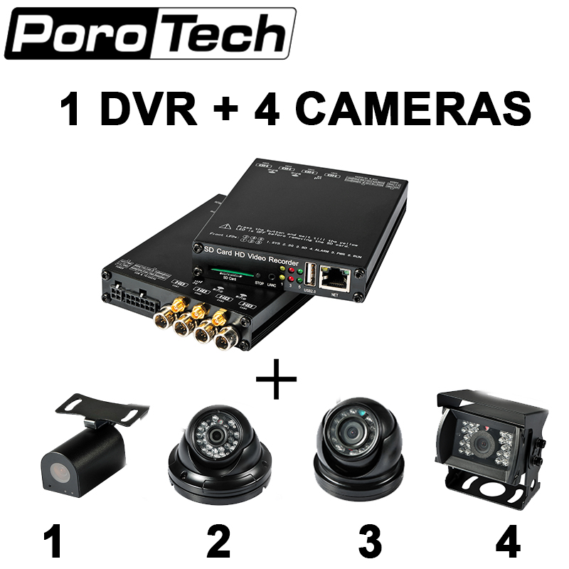HDVR004 4CH Video Recorder 4G WIFI GPS HD 1080P mini sd card mobile DVR HD Transit Bus Camera System car DVR for Taxi