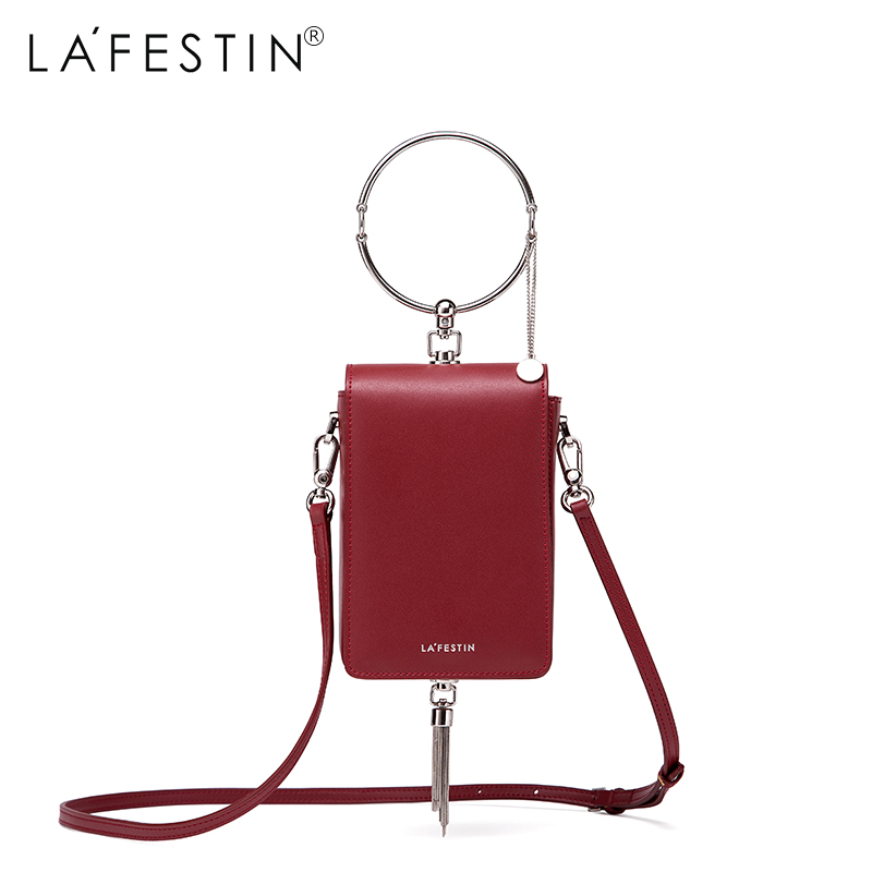 LAFESTIN Women Circle Round Tote Bag New 2018 Tassel Mobile Phone Bag Casual Tote Clutch Bag Ladies Small Mini Shoulder Bag hot new korean women fashion brand clutch bag tassel trend leisure xiekua package small mobile phone bag free shipping a023