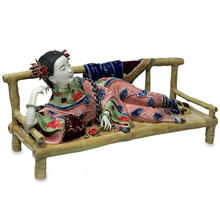 Collectibles Ceramic Laddy Sculptures Chinese Female Dolls Antique Statues Glazed Figurine Christmas Art Sleeping Position collectibles glazed ceramic dolls laddy sculptures chinese female statues figurine christmas gifts chinese traditional art