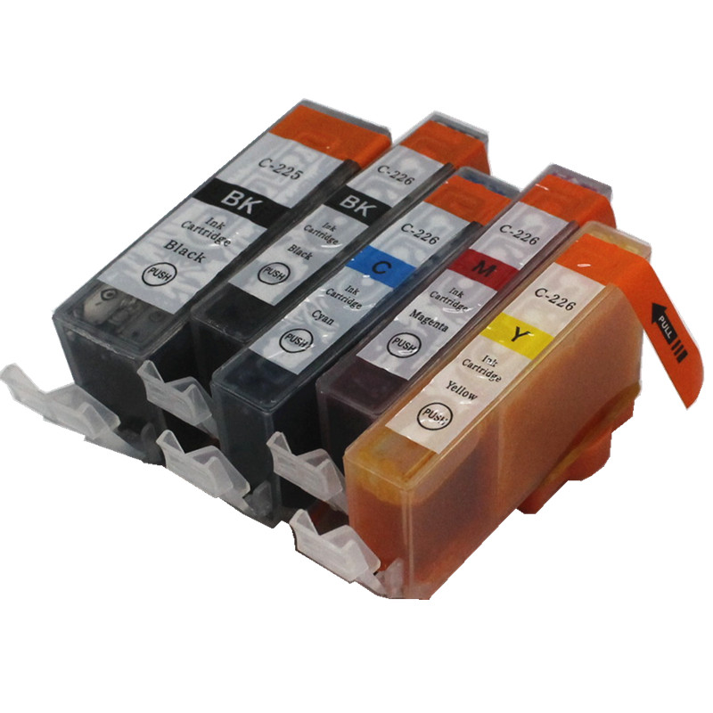 5pcs PGI 220BK CLI 221 BK C M Y 5 color <font><b>ink</b></font> <font><b>cartridge</b></font> For <font><b>canon</b></font> PIXMA MP550 MP560 MP620 MP620B <font><b>MP630</b></font> MP640 printer image