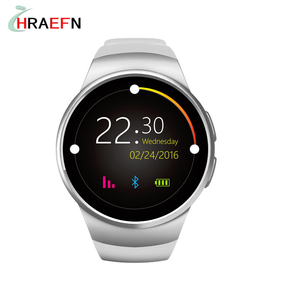 KW18 Heart Rate Monitor Smart Watch SIM TF card Bluetooth Smartwatch sport Smart Wristwatch for Android   smartphone smartch s958 smart watch sport waterproof heart rate monitor gps 2g sim card calling all compatible smartwatch for android ios c