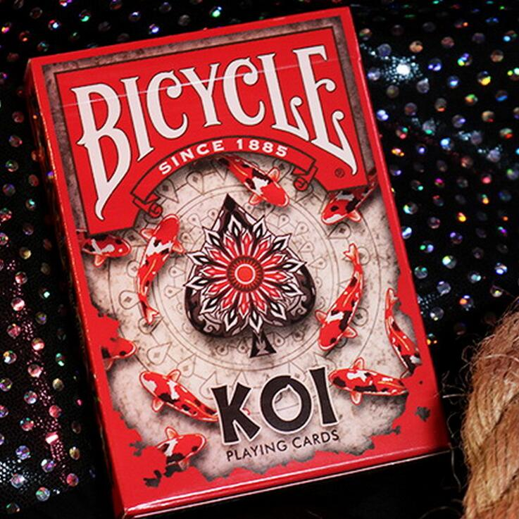 2019 New 1 Deck Bicycle Koi Playing Cards Flower Cut Playing Cards Cheat Magic Marked Poker For Table Games