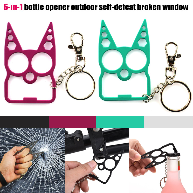 Portable Cute Cat Opener Screwdriver Keychain Self-defense Multifunction Outdoor Gadgets YS-BUY