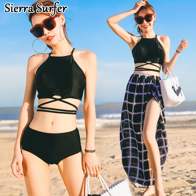 Swimming Suit Women Biquine Women's 2018 May Beach Cheap Sexy Bathing New Swimsuit Three Piece 8018 Dress Maillot De Bain Femme swimwear women cheap sexy bathing suits swim suit one piece may beach girls push up skirt new neck maillot de bain femme une
