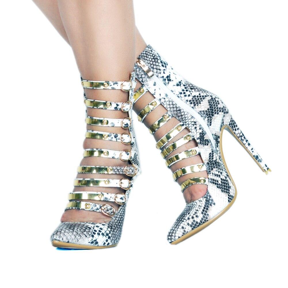 Haute Swing Plus Bottes Showed D'été Cuir Taille Color Printemps La En Noir As Talons Femelle Sandale Boucle Mince Chaussures Sangles Femme wgfX8q7
