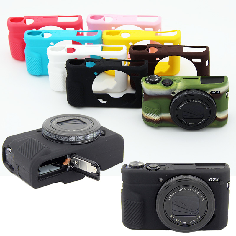 NEW Nice Soft Silicone Rubber Camera Protective Body Cover Case Skin For Canon Powershot G7X Mark II G7X Mark 2 G7X2 Camera bag