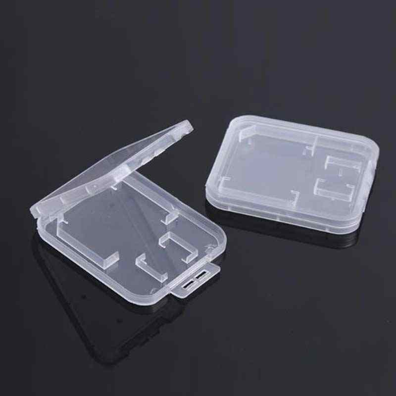 10 шт чехол для карт sd card case Прозрачный Стандартный SD, SDHC, microsd Дело box TF протектор белой коробке Carry хранения оптовая прод