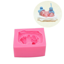 Baby Crafts Cake Silicone Soap Candle Mold Handmade Chocolate Candy Mold DIY Bakery Tools Cake Dessert Decoration Biscuit mold cute pig silicone cake mold diy rice cake mold steamed cake mold handmade chocolate candy biscuit sugar soap mold dessert tool
