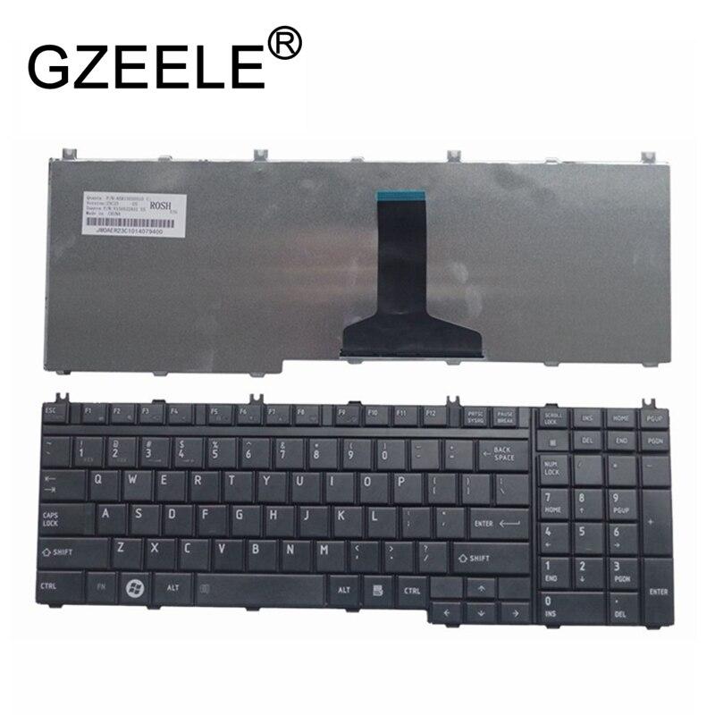 GZEELE Clavier pour Toshiba Satellite L505-13N X505 X500 A500 A505 P200 P300 P505 L350 L500 Ordinateur Portable/Portable QWERTY US anglais