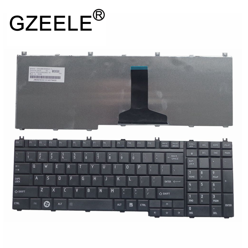GZEELE Keyboard For Toshiba Satellite L505-13N X505 X500 A500 A505 P200 P300 P505 L350 L500 Laptop / Notebook QWERTY US English