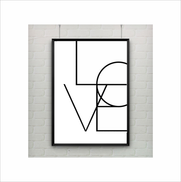 A3 love quotes canvas poster wall art for living room decor