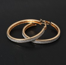 Vintage Gold Color Big Circle Hoop Earrings for Women Steampunk Ear Clip Party Jewelry Accessories Gift  e047