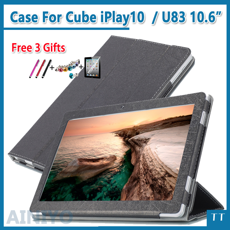 Case For ALLDOCUBE Cube iPlay10 pu Leather Smart Stand Cover Folding PU for Cube iPlay 10 /cube U83 10.6 Screen film gifts for alldocube cube iwork8 ultimate iwork8 air pro protective case flip pu leather case for cube iwork8 air 8tablet pc