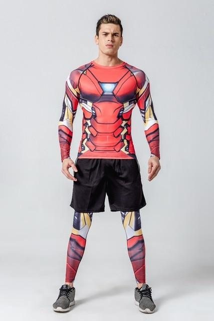26bf7c7094fe4 Top qualidade de compressão camisetas Superman homem aranha captain  America Hulk t shirt