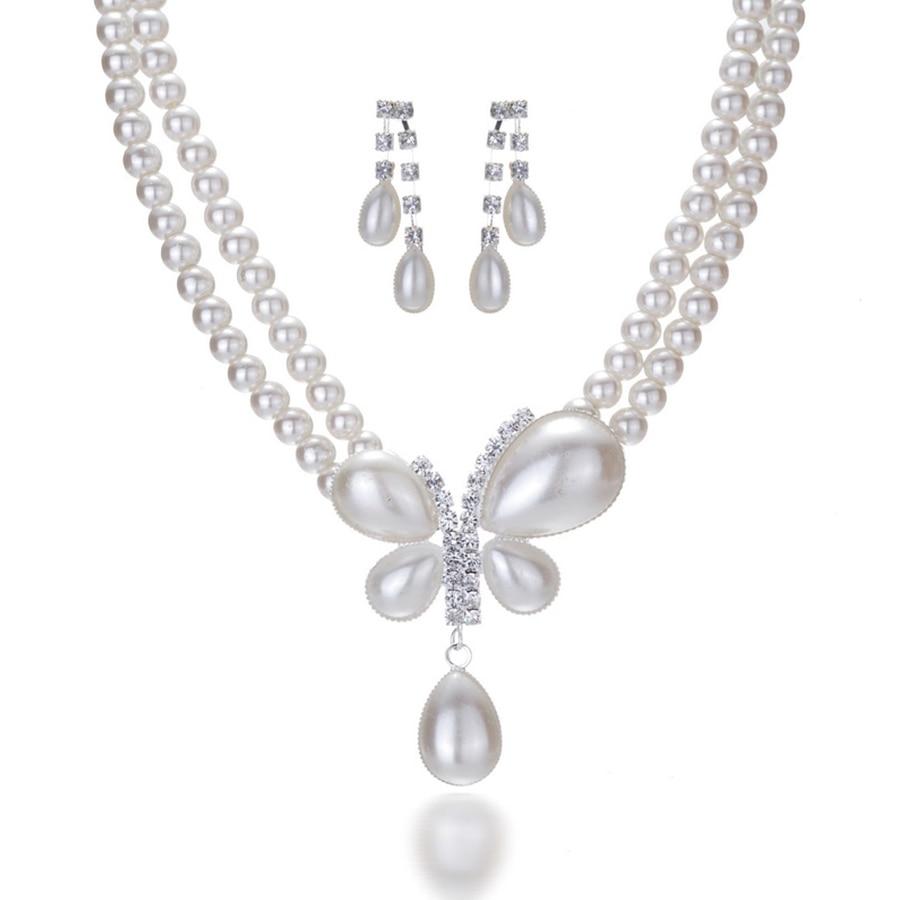 Šarmantna nevjesta vjenčanje biser nakit set kristal privjesak - Modni nakit - Foto 2