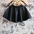 girls tutu skirt black size 8 9 years old 2015 autumn winter skirt girl kids children birthday leather ball gown