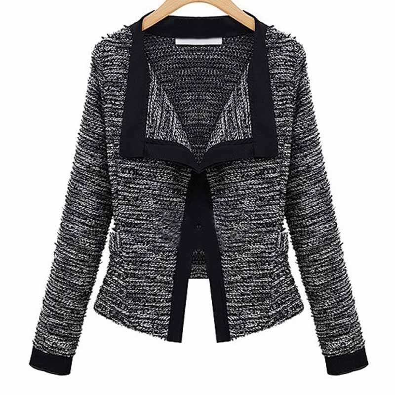 New Fashion Women Slim Fit Blazer Jacket Coat Patchwork Small Suit Casual Long Sleeve Cardigan Coats Work Blazer Coat WDC449 ...