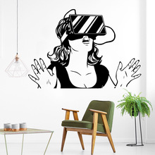Hot Virtual Reality Wall Art Decal Stickers Material For Home Decor Living Room Bedroom Decoration Murals