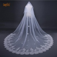 Sequins Lace Wedding Veil Fashion Two Layer 3 M Long Bride Veil With Comb Cathedral Wedding Accessories