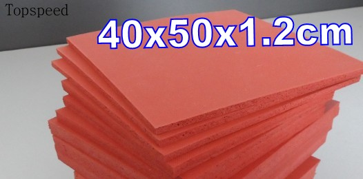 2pcs 12mm Thick Heat Press Machine Silicone Pad Mat 50x40cm High Temperature Resistant for heat transfer sublimation