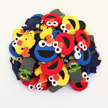 Wholesale 50pcs Random Mixed Sesame Street Shoe Decoration Shoe Charms fit Children Croc shoes Accessories Birthday Party Gifts